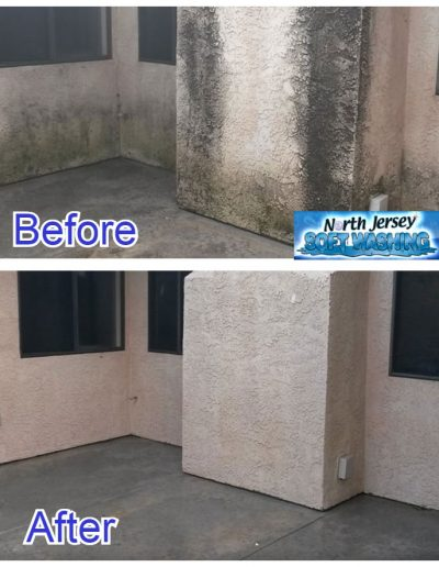 Commercial Soft Washing - Apartment Building Power Washing - North Jersey Soft Washing - Commercial Power Washing Services - Before and After